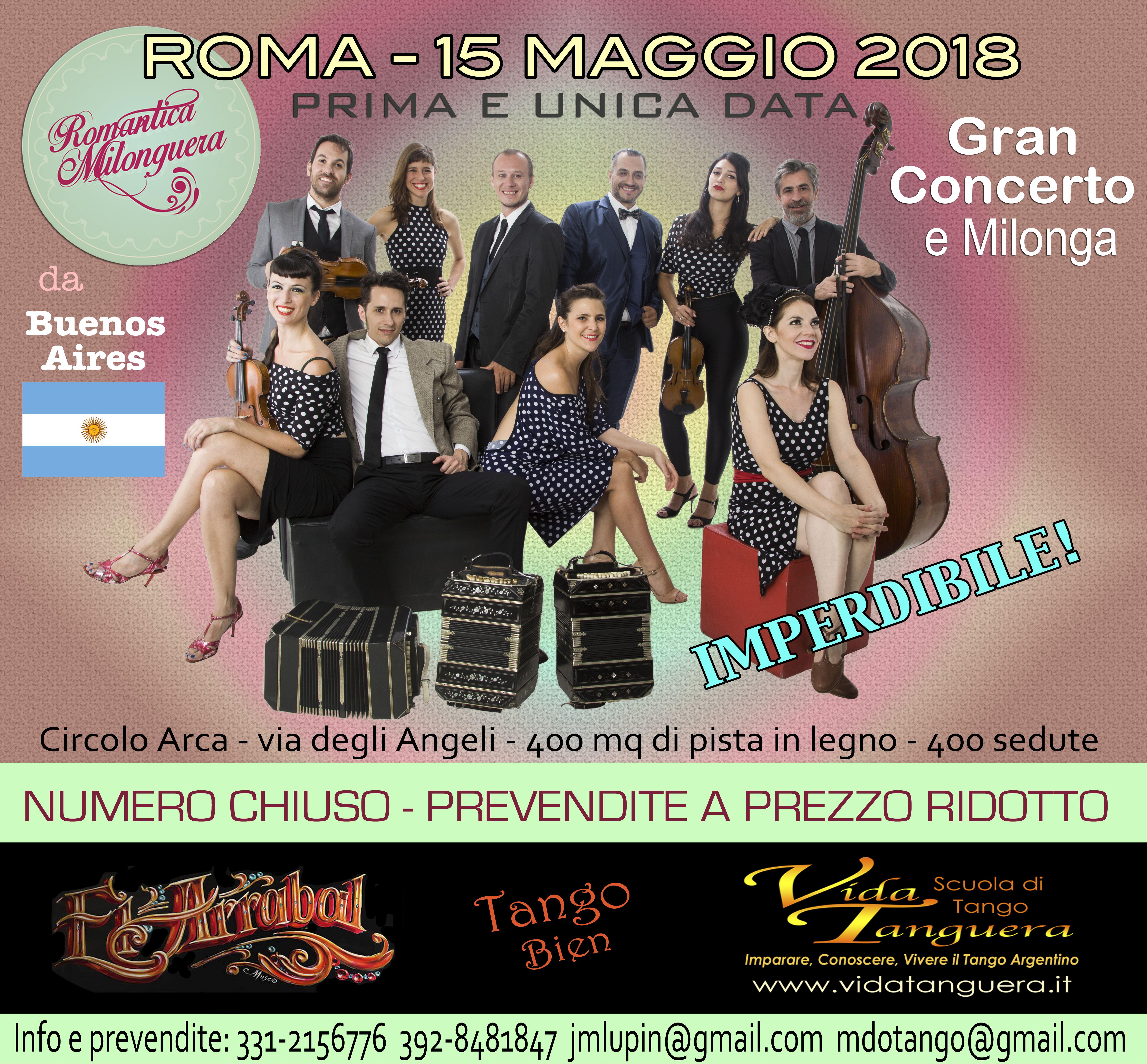 Locandina Orquesta Romantica Concerto Roma 2018